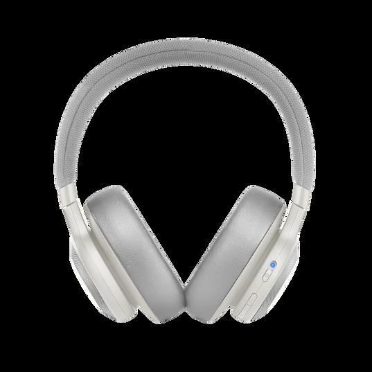 JBL E65BTNC - White - Wireless over-ear noise-cancelling headphones - Front