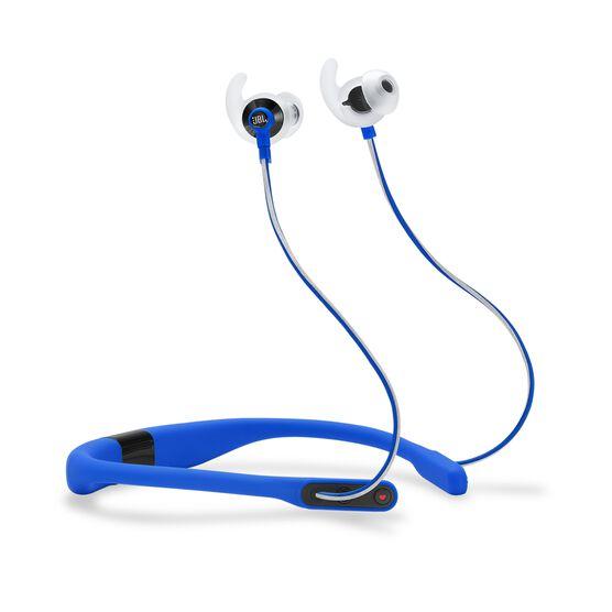 JBL Reflect Fit - Blue - Heart Rate Wireless Headphones - Hero