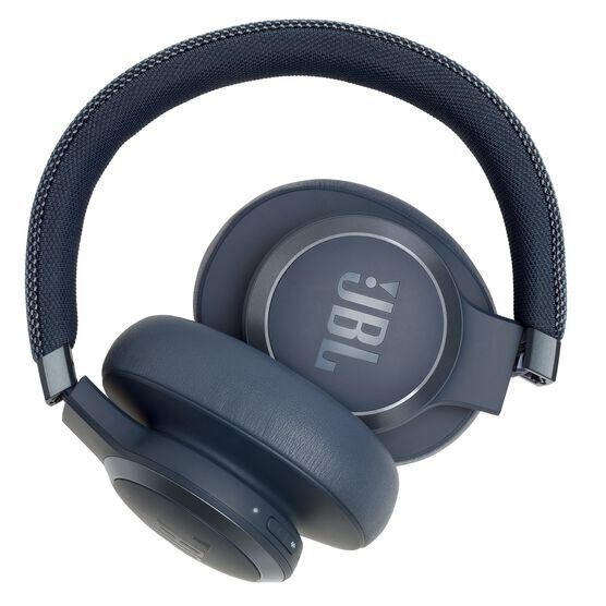 JBL LIVE 650BTNC - Blue - Wireless Over-Ear Noise-Cancelling Headphones - Detailshot 6
