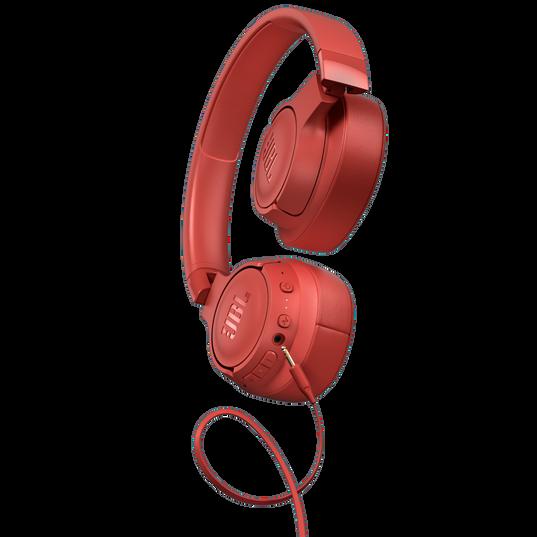 JBL TUNE 750BTNC - Coral Orange - Wireless Over-Ear ANC Headphones - Left
