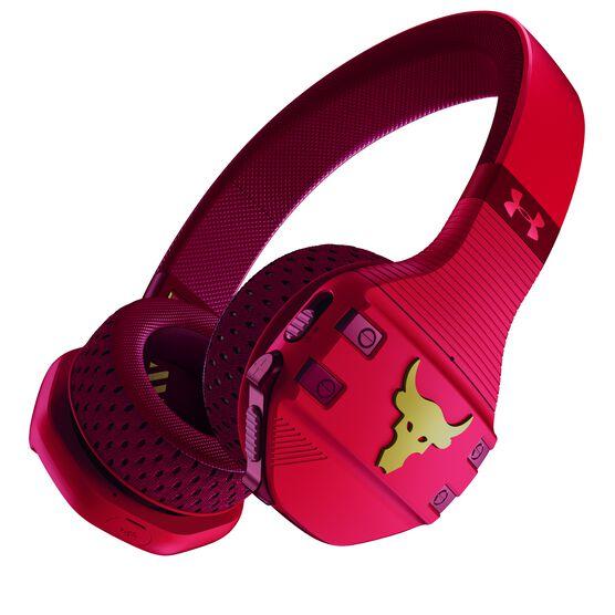 UA Sport Wireless Train Project Rock – Engineered by JBL - Red - On-ear sport Headphones - Hero
