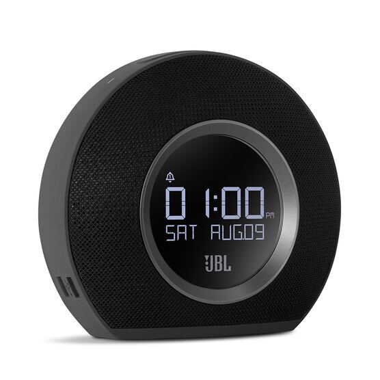 JBL Horizon - Black - Bluetooth clock radio with USB charging and ambient light - Detailshot 1
