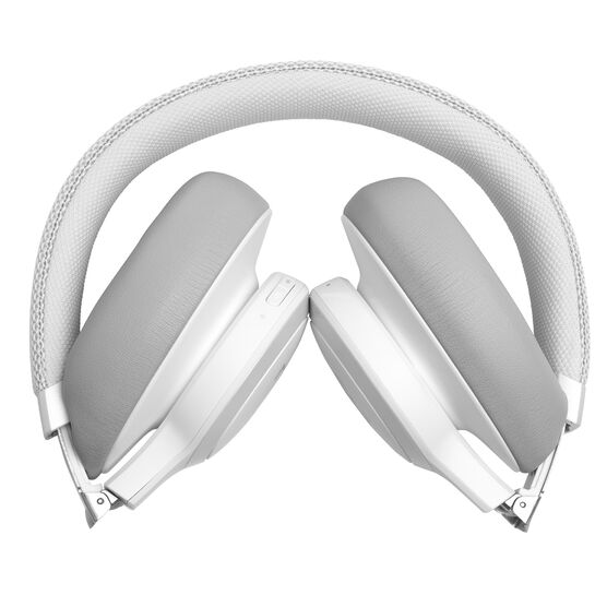 JBL LIVE 650BTNC - White - Wireless Over-Ear Noise-Cancelling Headphones - Detailshot 8