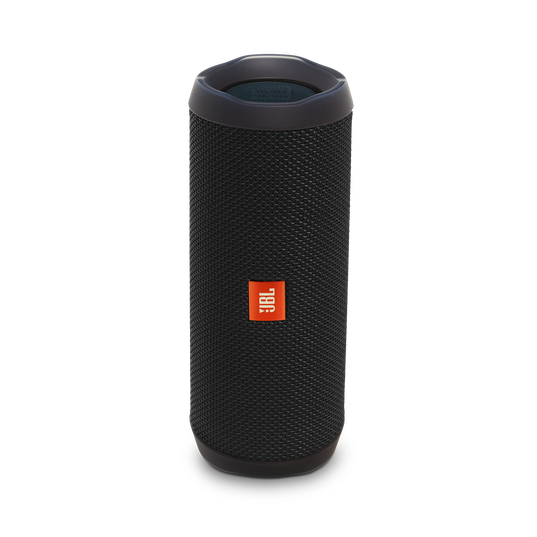 JBL Flip 4 - Black - A full-featured waterproof portable Bluetooth speaker with surprisingly powerful sound. - Hero