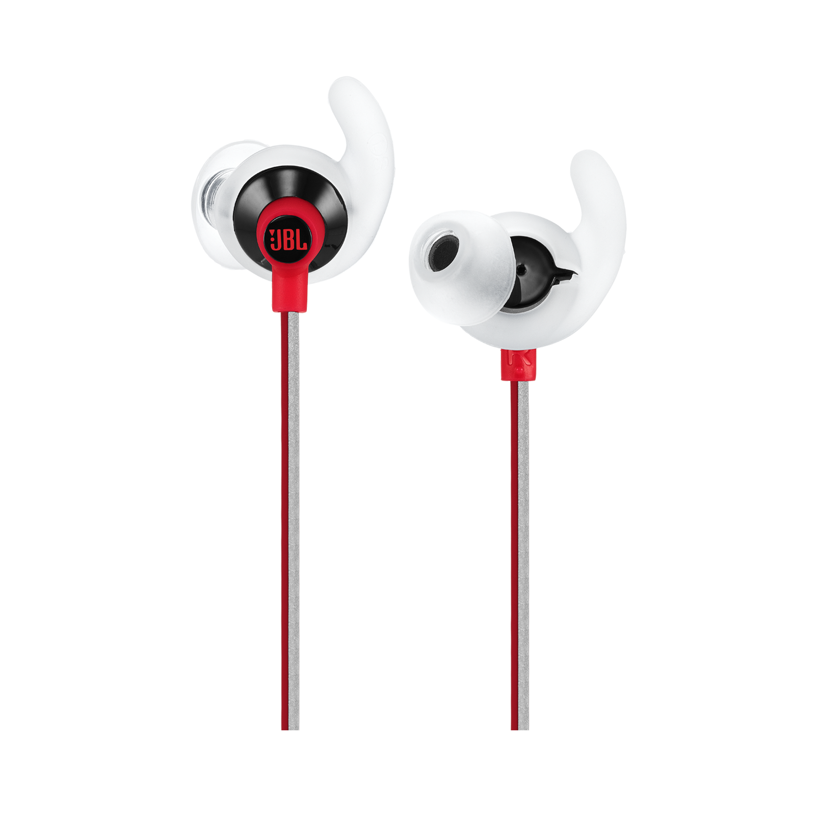 JBL Reflect Fit - Red - Heart Rate Wireless Headphones - Detailshot 1