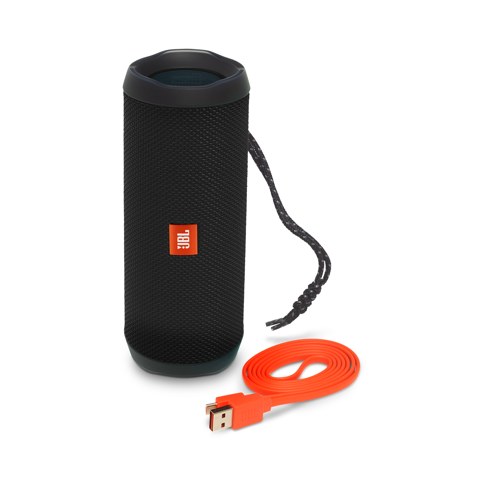 JBL Flip 4 - Black - A full-featured waterproof portable Bluetooth speaker with surprisingly powerful sound. - Detailshot 1