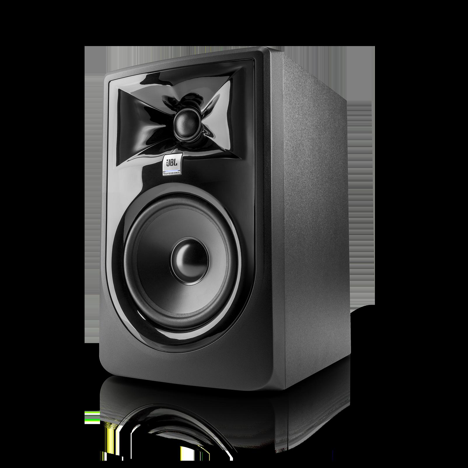 "JBL 305P MkII - Black - Powered 5"" Two-Way Studio Monitor - Hero"