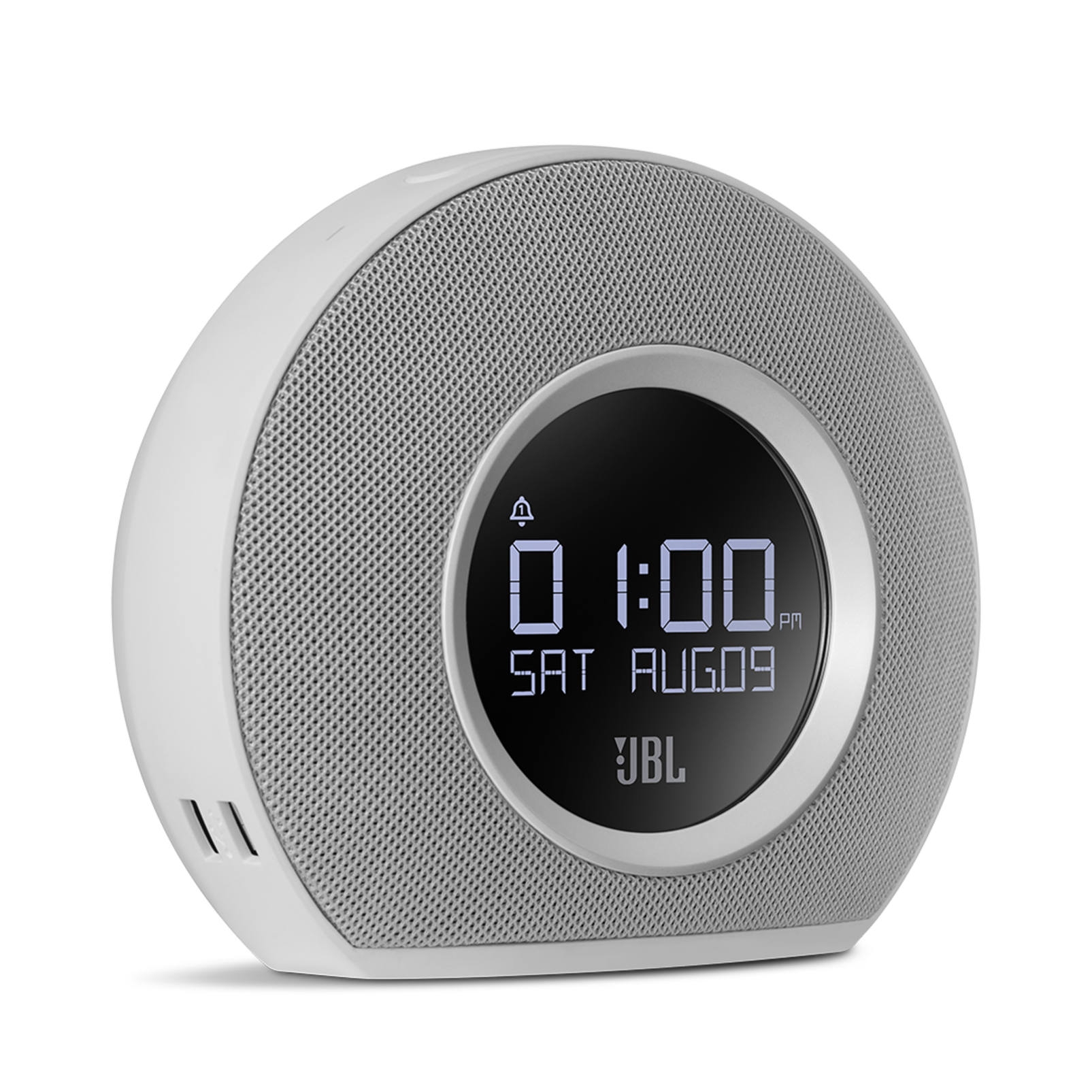 JBL Horizon - White - Bluetooth clock radio with USB charging and ambient light - Detailshot 1