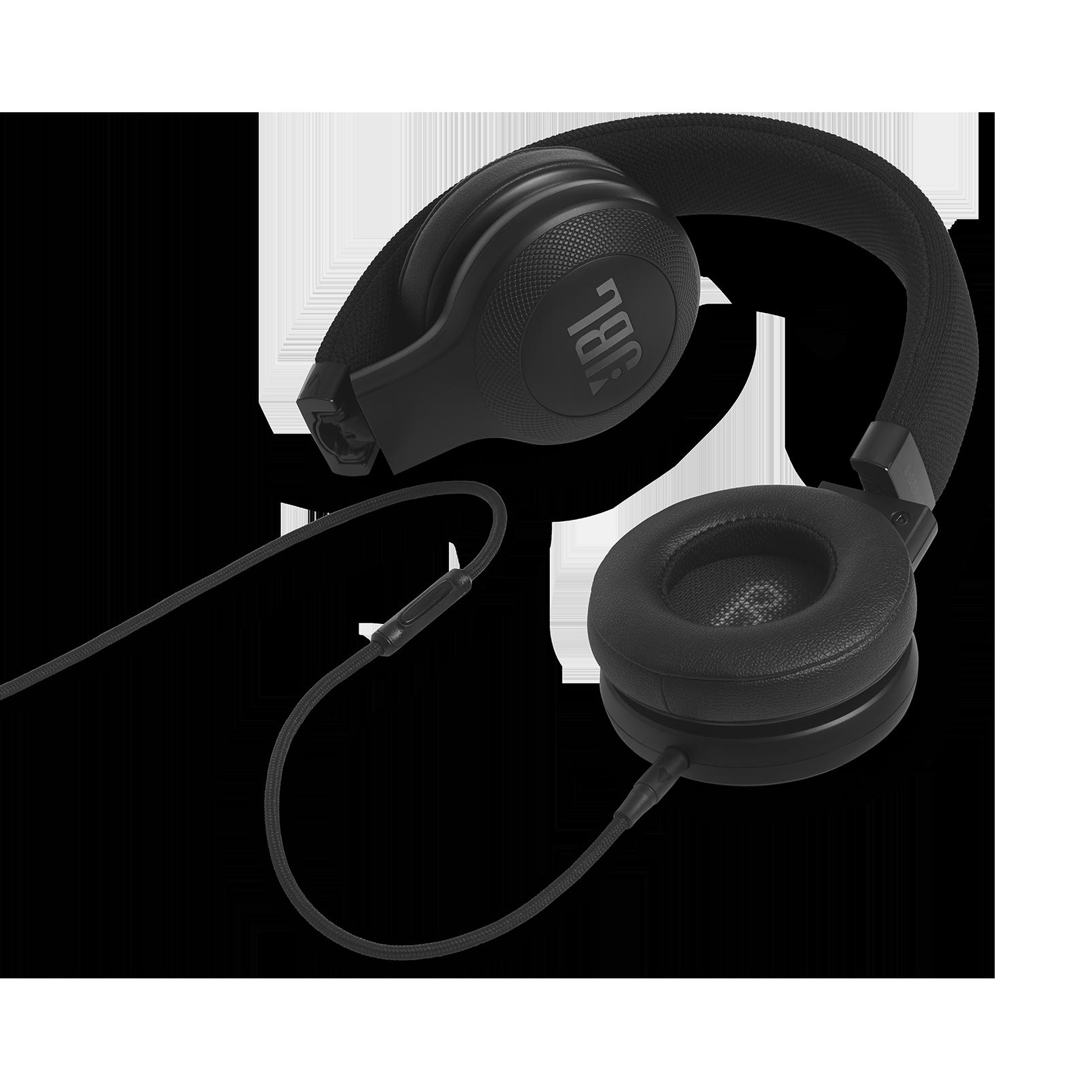 E35 - Black - On-ear headphones - Detailshot 3